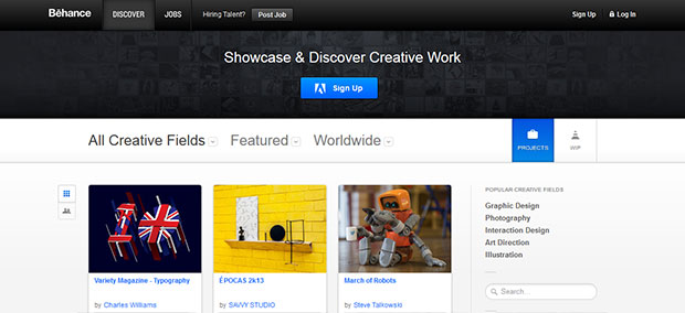 Online Portfolios on Behance