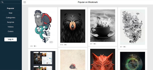 Save images with Wookmark: