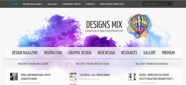Designs Mix - Web Design, Graphics and Art Inspiration