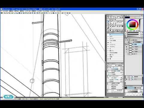 Step 01-04 線画を描く 2―IllustStudio 風景 テクニック