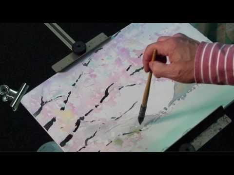 【YouTube】水彩動画塾 Lesson 10:桜を描く手順について