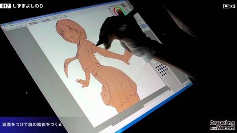 【YouTube】イラストレーター しずまよしのり Live Painting