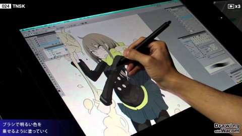 【YouTube】漫画家 TNSK Live Painting