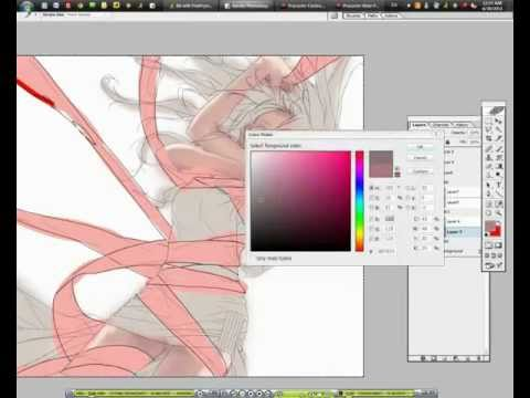 【YouTube】[ Toccata pt.1 ] speed drawing video