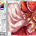 【YouTube】CGing Reimu in Paint Tool SAI