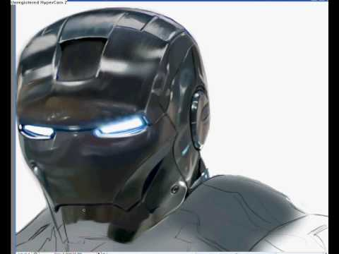 【YouTube】IRONMAN Speed painting with Adobe Photoshop by Ivan Ageenko