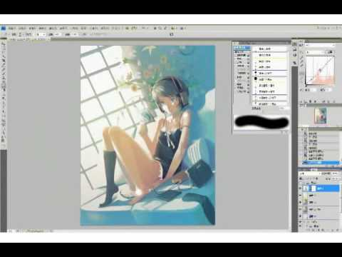 【YouTube】Process of CG-Painting by VOFAN