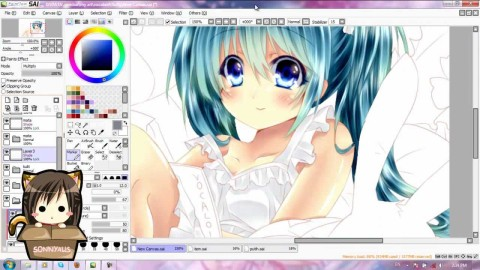 【YouTube】Speed Paint – Miku Bed Time