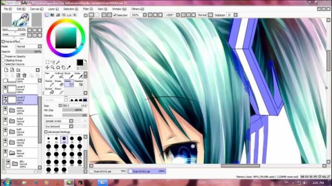 【YouTube】Speed Paint Miku Hatsune