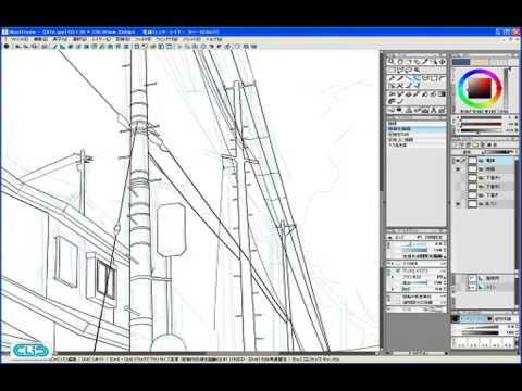 【YouTube】Step 01-05 線画を描く 3―IllustStudio 風景 テクニック