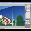 【YouTube】Step 01-06 下塗りと彩色の確認―IllustStudio 風景 テクニック