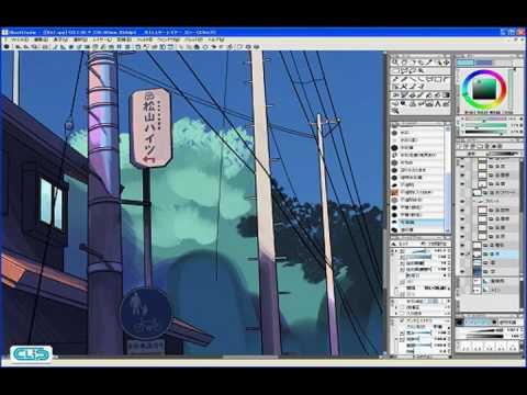 【YouTube】Step 02-02 タッチをつけながら彩色する2―IllustStudio 風景 テクニック