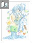スライム系女子を色鉛筆で描いてみた!【メイキング...サムネイル