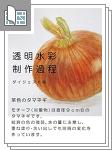 透明水彩制作過程 茶色の玉葱 全6ページ サムネイル