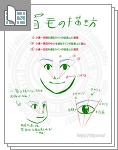 お絵かき講座 顔の描き方、追加資料「眉毛と化粧」サムネイル