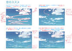 多分これが一番早い空の描き方だと思います。サムネイル