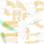 【ポーズ/手3】道具を持つサムネイル