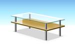 ローテーブルと鉄柱の素材サムネイル