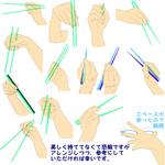 【ポーズ/手4】道具を持つサムネイル