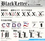 ブラックレター書体デザイン・チートシートサムネイル
