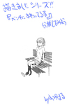 描きましたシリーズ‼ 「ベンチに座る女の子」サムネイル