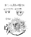 怒った顔描きかた講座サムネイル