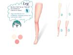"""Body part """"leg""""サムネイル"""