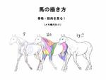 馬の描き方 (メモ帳用)サムネイル