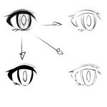 目の線画。サムネイル