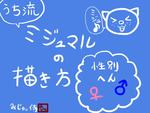 【図解録】ミジュマルの描き方~性別編~サムネイル
