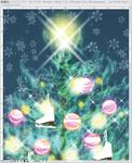 クリスマスツリー画のメイキングサムネイル
