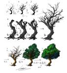樹木畫法サムネイル
