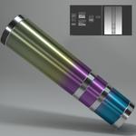 Blenderでバイクのチタンマフラー風のマテリ...サムネイル