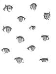 目でキャラクターの個性が決まる!サムネイル