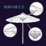 【中国語注意】和傘の描き方サムネイル
