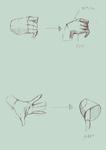 手の単純化サムネイル