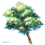 樹木の絵のメイキング(素材付き)サムネイル