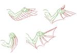 鳥、ドラゴン系の翼かきかたサムネイル
