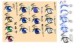 簡単な目の描き方、塗り方サムネイル