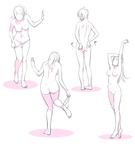 【トレスフリー】女の子ポーズ練習2【パンツを脱ぐ...サムネイル