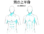 男の上半身を描く【腹筋の描き方】サムネイル