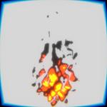 blender 3DCG アニメ調の火サムネイル
