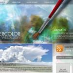 水彩画風ウェブデザイン引用画像